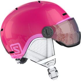 Salomon Grom Visor Helm Kinder glossy/pink